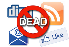 Email RSS Facebook is dead