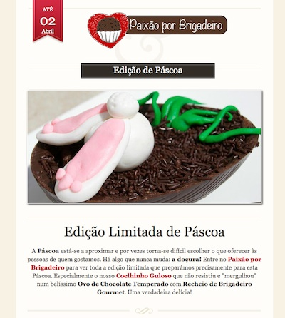 Newsletter Paixão por Brigadeiro